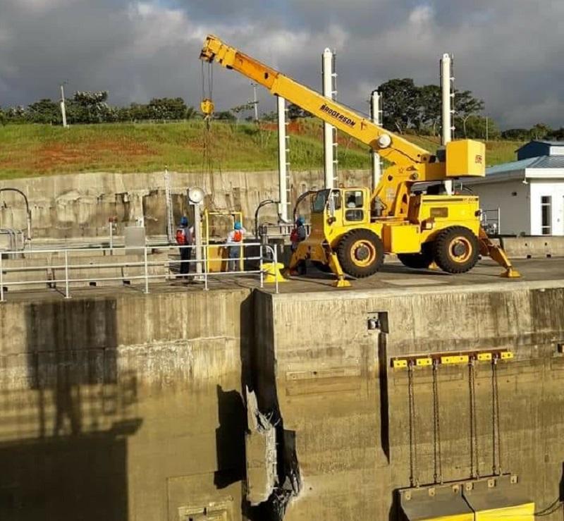 Daño en esclusa de Agua Clara fue causado por el golpe de un buque