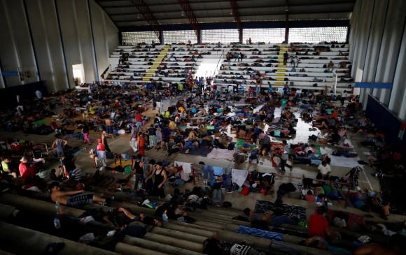Unos 5.500 migrantes llegan a albergue en Ciudad de México