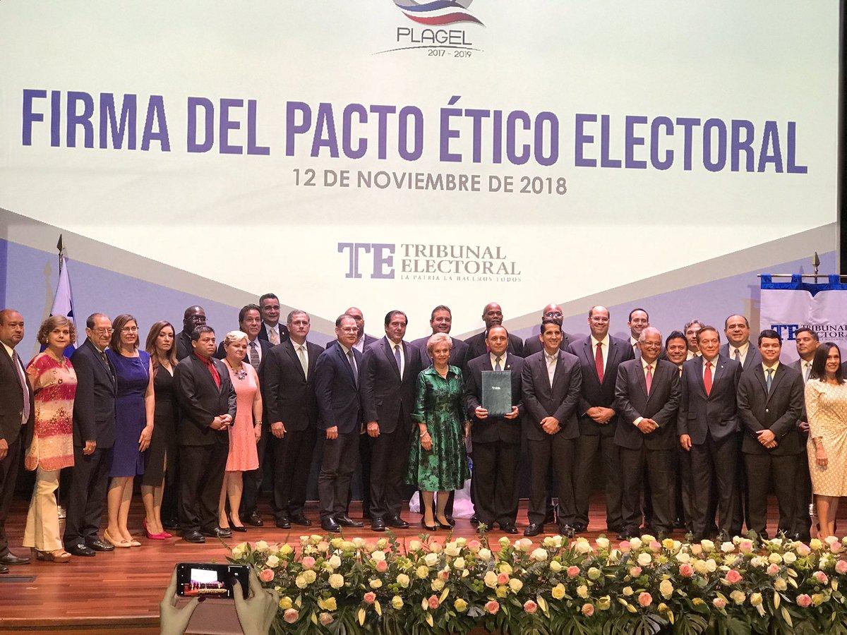 Partidos firman Pacto Ético Electoral con excepción del FAD