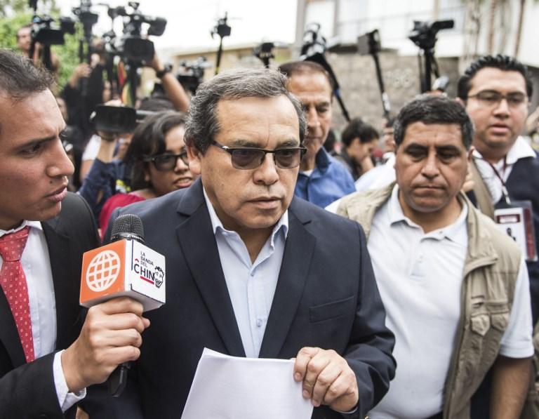 Expresidente peruano García se pone a disposición de la justicia