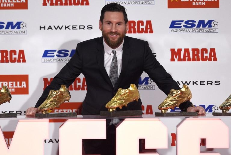 Messi recibe su quinta Bota de Oro, el único jugador en conseguirlo