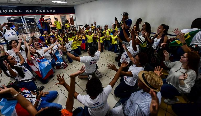 En clima de fiesta, Panamá espera llegada del papa Francisco