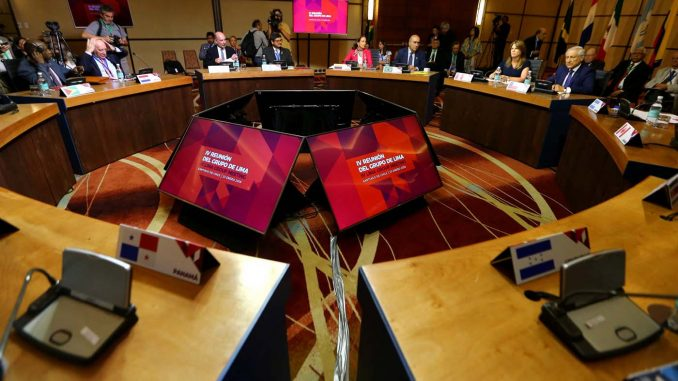 Grupo de Lima evalúa medidas contra Venezuela