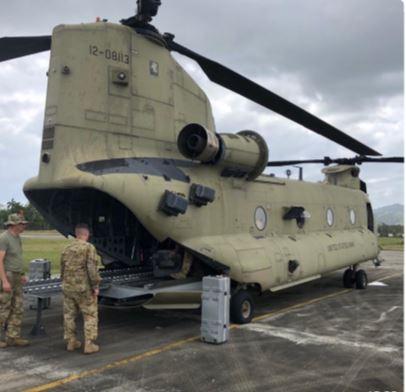 Minseg y Comando Sur realizan movilizaciones conjuntas de carga aérea en Darién