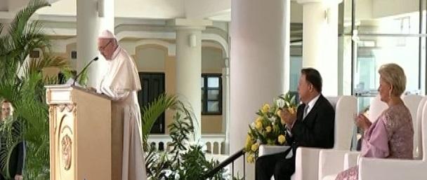 """Papa Francisco: Panamá es """"tierra de convocatoria"""""""