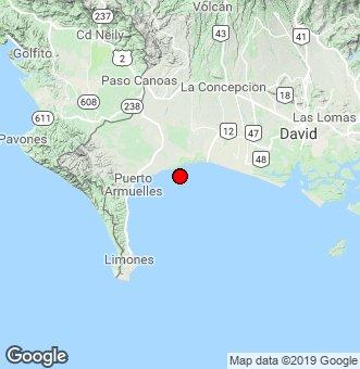 Registran sismo de magnitud 2,9 en escala de Richter en Puerto Armuelles