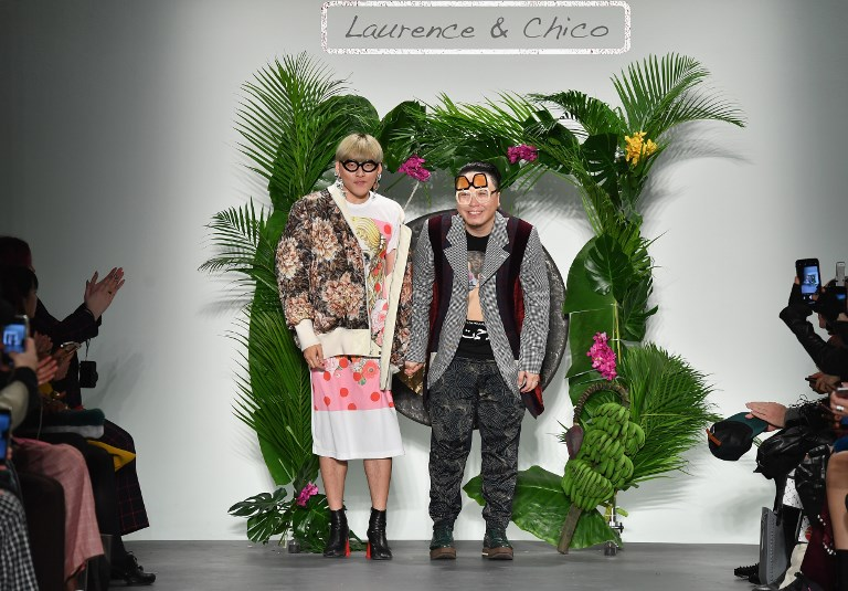 """Laurence and Chico"", un dúo impactante en la Fashion Week de Nueva York"