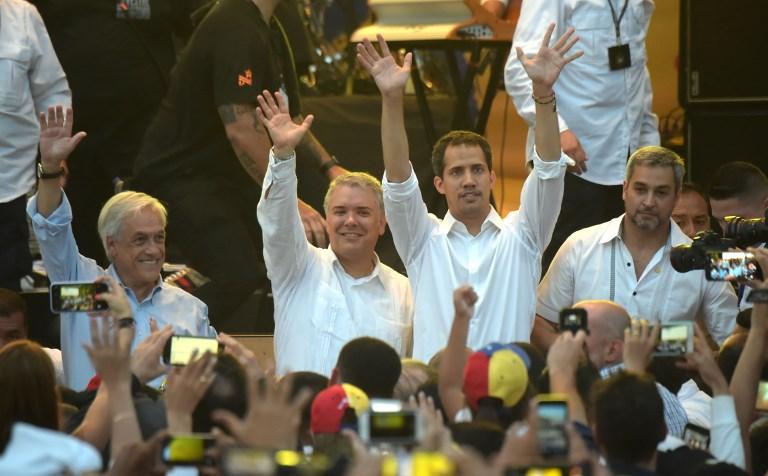 Opositor venezolano Juan Guaidó llega a concierto del lado colombiano de frontera