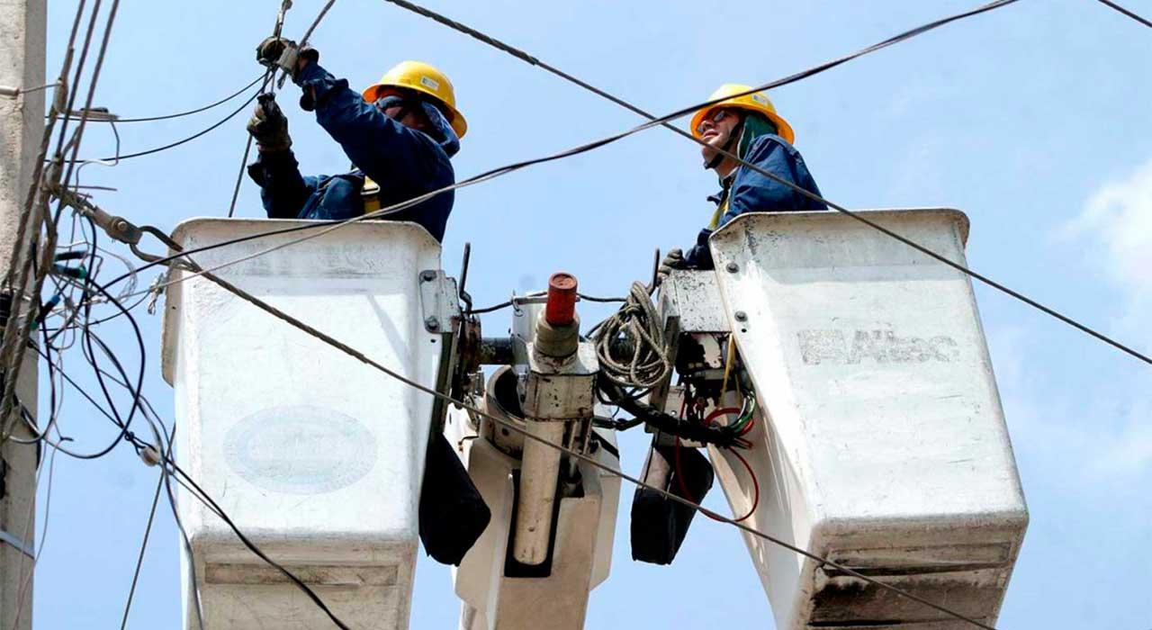Fluido eléctrico se afectará en varios sectores por trabajos de mantenimiento