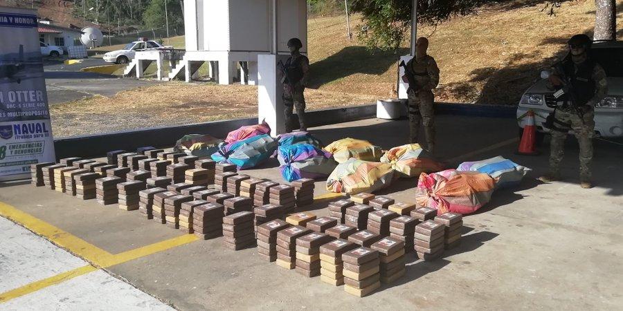 Decomisan 833 paquetes de droga en Guna Yala