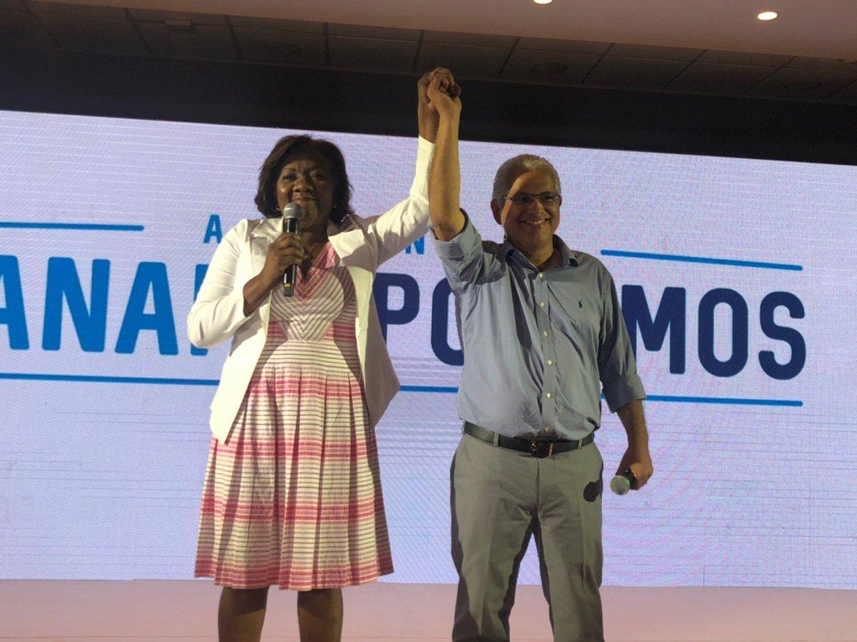 Colonense Nilda Quijano, compañera de fórmula del candidato presidencial Blandón