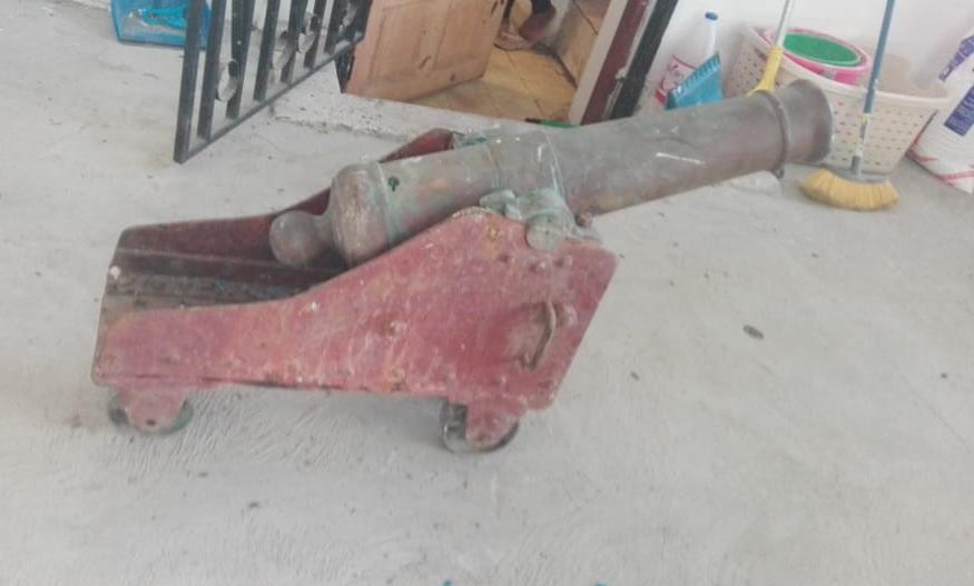Recuperan cañón hurtado en la iglesia de Portobelo