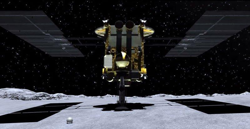 Una sonda espacial japonesa se dispone a aterrizar en un asteroide