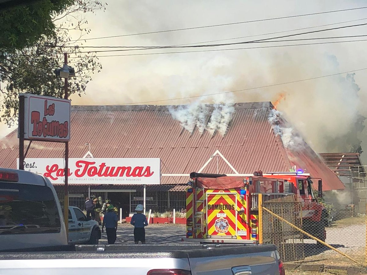 Reportan incendio en restaurante en David, Chiriquí