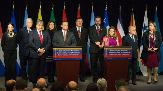 """Grupo de Lima pide cambio de gobierno en Venezuela """"sin uso de la fuerza"""""""
