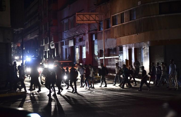 Apagón deja a oscuras a gran parte de Venezuela