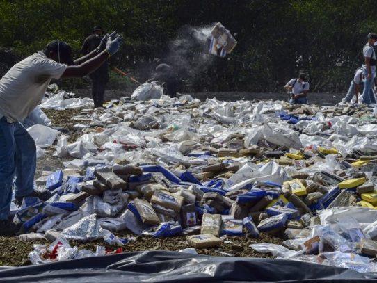 Panamá lleva incineradas 20 toneladas de droga en lo que va de año