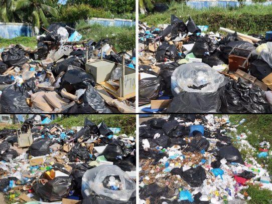 Suspenden recolección de basura en centros educativos de Colón por morosidad del Meduca