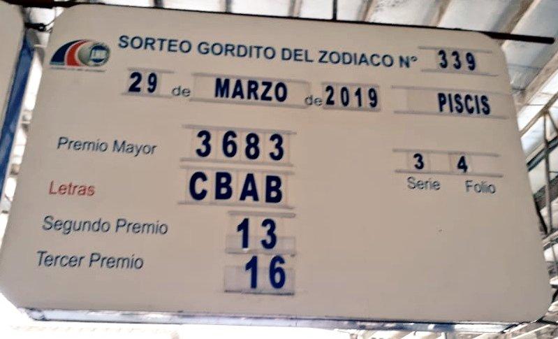 Ganador del Gordito del Zodiaco Millonario signo piscis es de Chiriquí