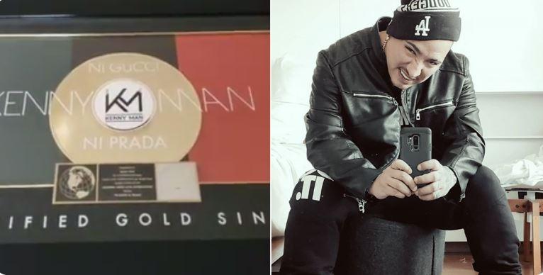 """Kenny Man se alza con Disco de Oro en EEUU por """"Ni Gucci Ni Prada"""""""