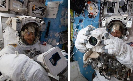 Dúo de astronautas realiza caminata espacial para actualizar sistemas de energía de la EEI