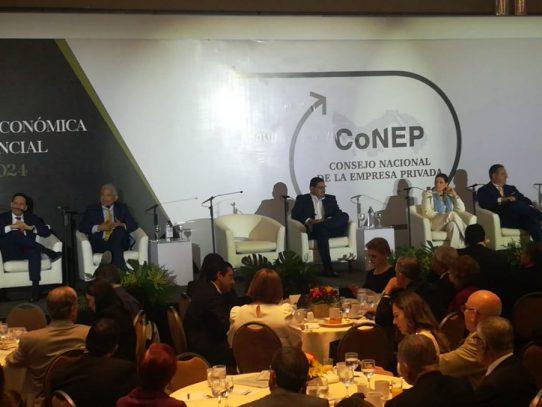 Cortizo, Roux y Lombana se ausentan del foro del Conep