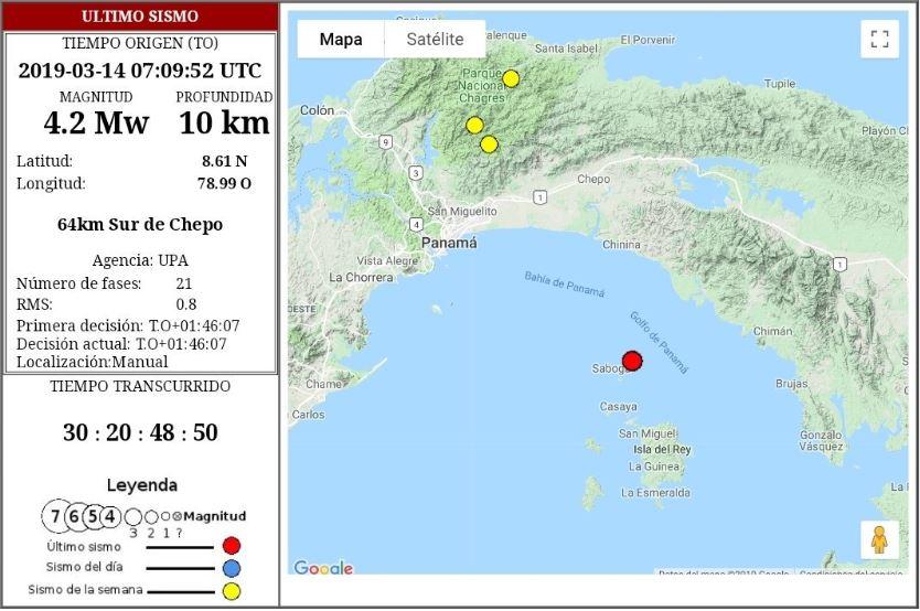 Temblor de 4.2 estremeció la capital la madrugada de hoy jueves 14
