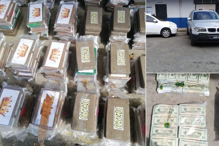 PN y MP decomisan 301 paquetes de droga y $100 mil en Colón