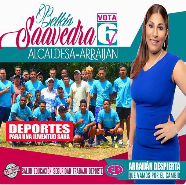 Martinelli brinda su apoyo a candidata a la alcaldía de Arraiján, Belkis Saavedra
