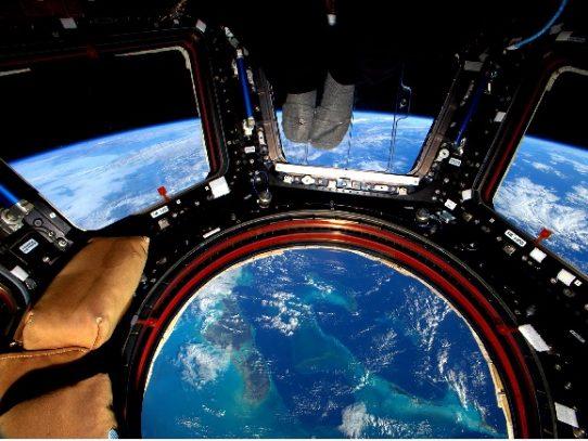 El planeta visto desde la órbita de la Estación Espacial Internacional