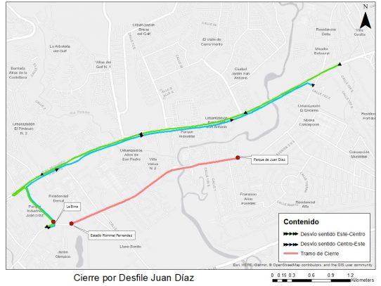 Metro Bus de ruta Vía España tendrá desvíos este domingo