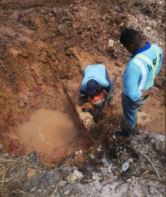 Pocrí de Aguadulce sin agua por reparación de línea del Idaan