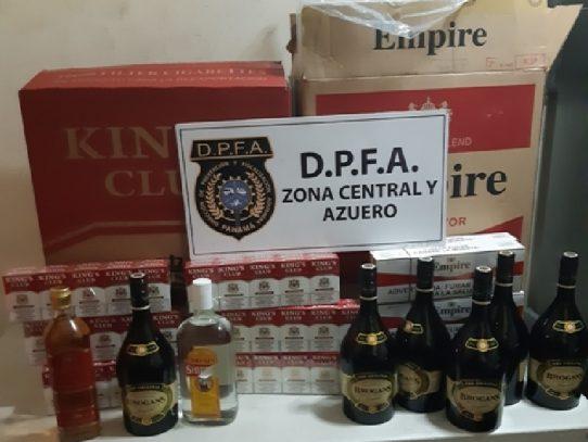 Decomisan alcohol, cigarrillos y otra mercancía de contrabando en Azuero