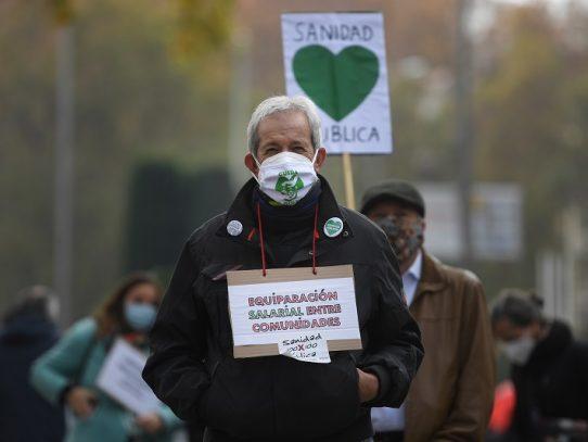 Miles de manifestantes en Madrid en defensa de la salud pública