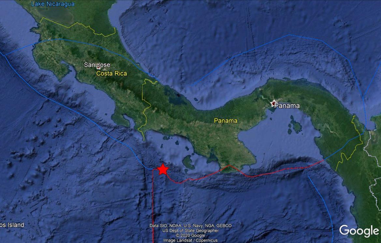 Se reporta movimiento sísmico al oeste de Isla Coiba