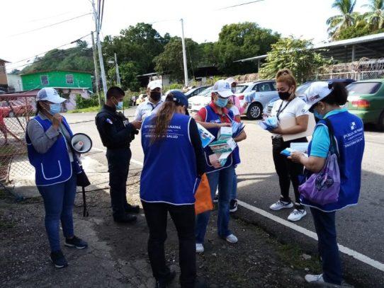 Intensifican la docencia y aumentan pruebas de hisopado en San Miguelito