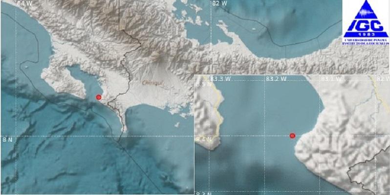 En Chiriquí reportan sismo, el mismo tuvo origen en Costa Rica