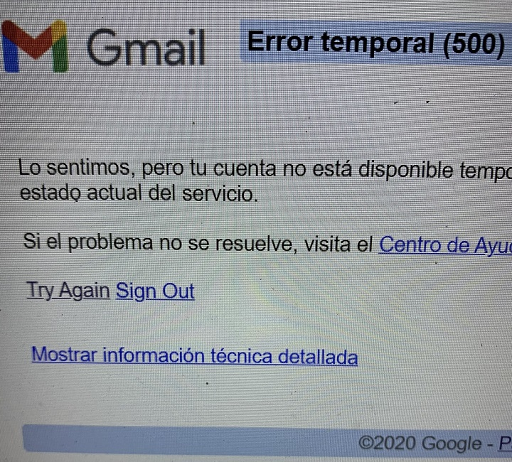 Desperfecto técnico afecta a los servicios de Google en el mundo