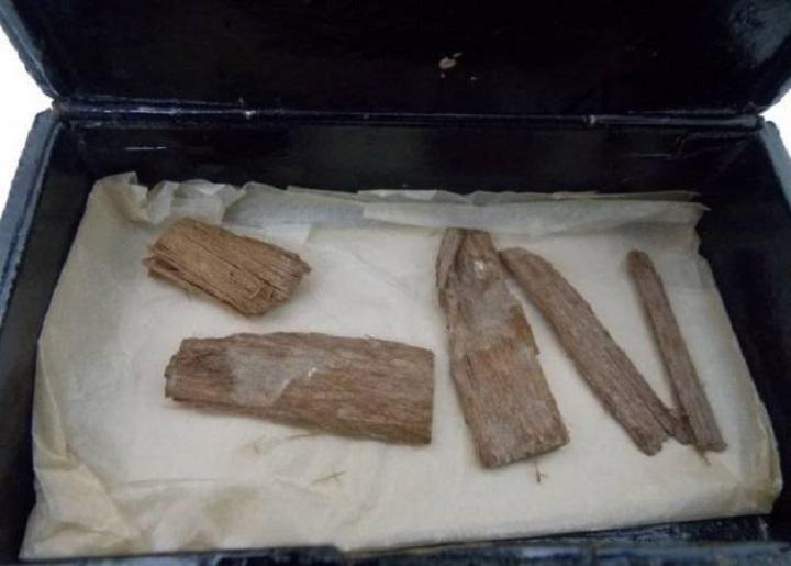 Una caja de puros en Escocia guardaba un objeto de la Gran Pirámide de Keops