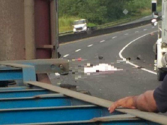 Accidente de tránsito deja una víctima fatal en la autopista Panamá- Colón