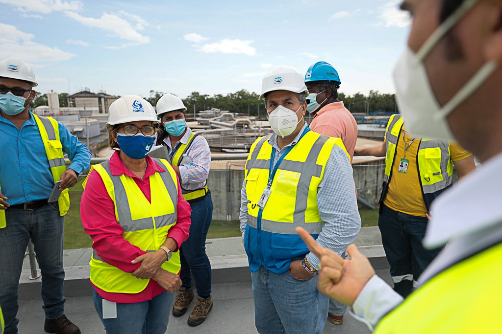 IDAAN constata trabajos del programa de saneamiento de Panamá