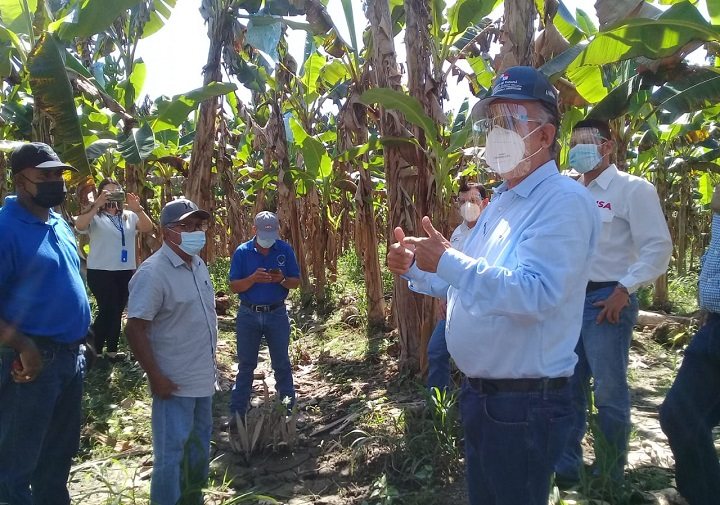 Gobierno llevó respuestas a productores de plátano de Barú