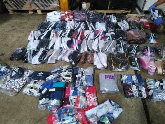 Retienen en Tocumen 18 bultos con presunta mercancía falsificada