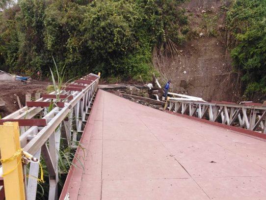 Inicia la reparación del puente sobre la quebrada Iglesia en Cerro Punta