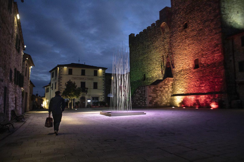 Sin turismo, la vida en un poblado de la Toscana retrocede en el tiempo