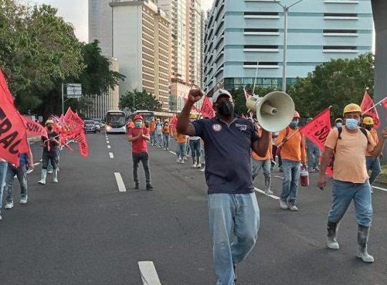 Suntracs retoma movilizaciones en distintos puntos del país