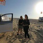 En Catar, una mujer en el cerrado club de conductores del desierto