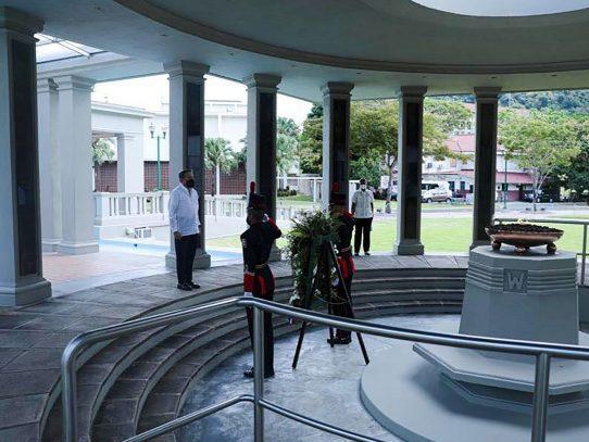Según el mandatario panameño, se honra a los mártires haciendo las cosas bien