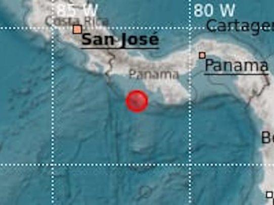 Sismo fue localizado en Veraguas