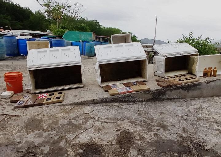 Incautan 34 paquetes con droga en Darién